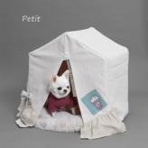 ルイスドッグ【louisdog】Applique Organic Peekaboo/Oxford Petit-Popcorn/Pink Beige