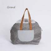 ルイスドッグ【louisdog】Furaround Bag/Aspen Grand-Linen Cold Dye n Pale Blue Fur