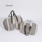 ルイスドッグ【louisdog】Furaround Bag/Aspen Grand-Linen Stripes n Pale Blue Fur