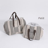 ルイスドッグ【louisdog】Furaround Bag/Aspen Petit-Linen Stripes n Pale Blue Fur