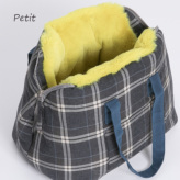 ルイスドッグ【louisdog】Furaround Bag/Aspen Petit-Egyptian Cotton Check n Neon Fur