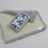 ルイスドッグ【louisdog】Aspen Blanket n Pillow Set/Pale Lilac Fur Set