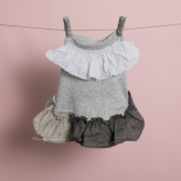 ルイスドッグ【louisdog】Linen Ruffle Organic Dress