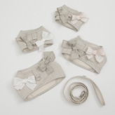 ルイスドッグ【louisdog】Irish Linen Harness Set/Natural Linen