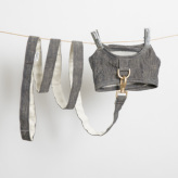ルイスドッグ【louisdog】Irish Linen Harness Set/Yellow Navy Linen