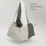 ルイスドッグ【louisdog】Irish Linen Sling Bag/Grand-Irish Yellow Navy Linen