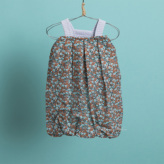 ルイスドッグ【louisdog】Pumpkin Playsuit/Brown Flower Bouquet