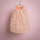 ルイスドッグ【louisdog】ShaSha Dress/Peach Gingham