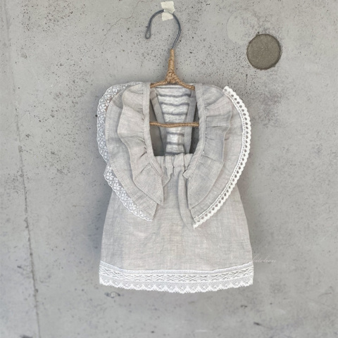 ルイスドッグ【louisdog】Linen Swing Dress/Grey
