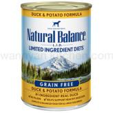 【正規品】ナチュラルバランス ドッグ缶 ダック&ポテト 374g×24缶