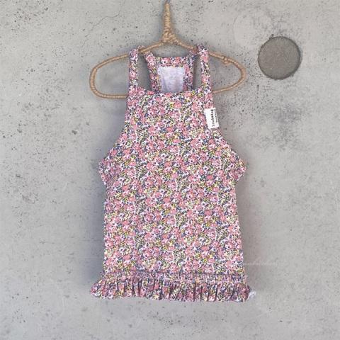 ルイスドッグ【louisdog】Floral Sleeveless Tee/Peach Flowers