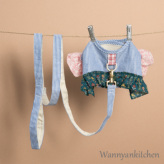ルイスドッグ【louisdog】Liberty Frill Harness Set