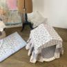 ルイスドッグ【louisdog】Peekaboo/LIBERTY Grand-Floral Academy White