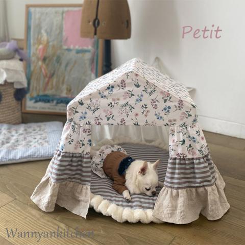 ルイスドッグ【louisdog】Peekaboo/LIBERTY Petit-Floral Academy White