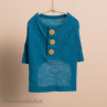 ルイスドッグ【louisdog】Button T-shirt/Teal Blue