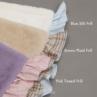 ルイスドッグ【louisdog】Frills Blanket Pink Tweed Frill/Brown Plaid Frill