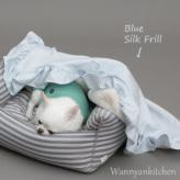 ルイスドッグ【louisdog】Frills Blanket Blue Silk Frill