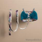 ルイスドッグ【louisdog】Fur Harness Set/Pagoda Blue Fur