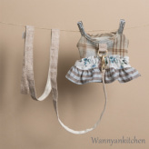 ルイスドッグ【louisdog】Tweed Frill Harness Set/Floral Academy White
