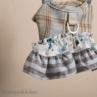 ルイスドッグ【louisdog】Tweed Frill Harness Set/Floral Academy White