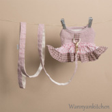 ルイスドッグ【louisdog】Tweed Frill Harness Set/Ferguson Pink