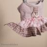 ルイスドッグ【louisdog】Tweed Frill Harness Set/Ferguson Pink