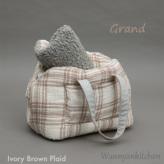 ルイスドッグ【louisdog】Linenaround Bag/Plaid Grand-Ivory Brown Plaid