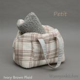 ルイスドッグ【louisdog】Linenaround Bag/Plaid Petit-Ivory Brown Plaid