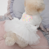 ルイスドッグ【louisdog】Ballet Club Oragnic TUTU/Spangle Heart/White TUTU