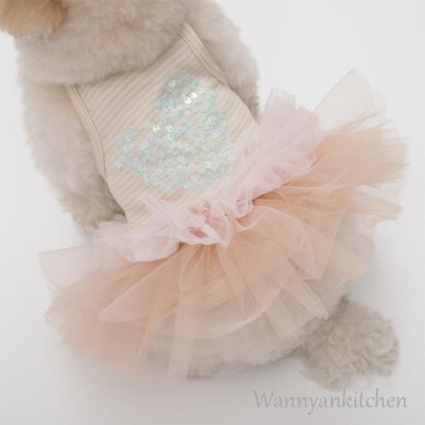ルイスドッグ【louisdog】Ballet Club Oragnic TUTU/Spangle Heart/Pink TUTU