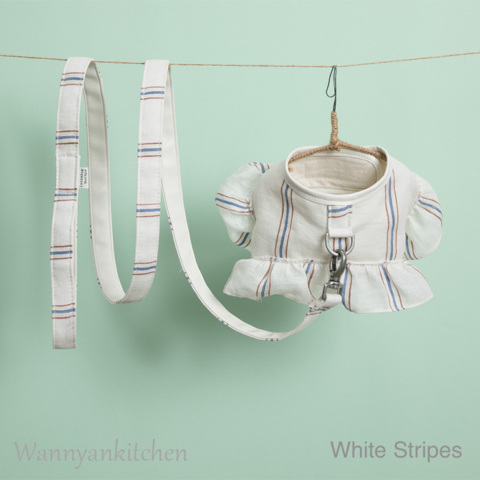 ルイスドッグ【louisdog】Candybar Harness Set/White Stripes
