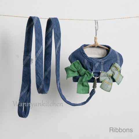 ルイスドッグ【louisdog】Park Club Harness Set/Ribbons