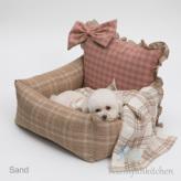 ルイスドッグ【louisdog】Beach Club Driving Kit/Sand Pink Check/Ribbon