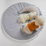 ルイスドッグ【louisdog】Daisy Garden Rug/Blue stripes cotton