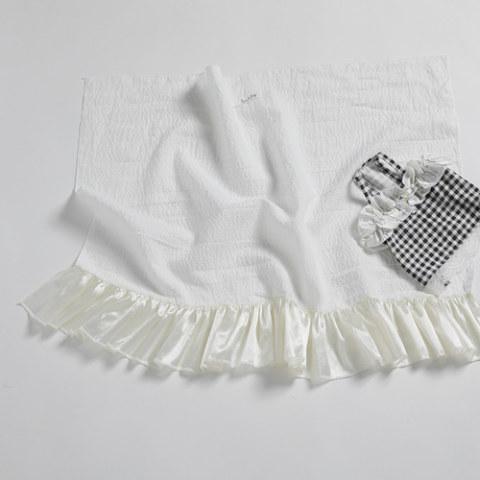ルイスドッグ【louisdog】Summer Blanket/White Seersucker linen