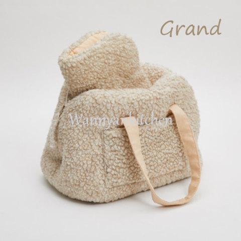 ルイスドッグ【louisdog】Flat White Around Bag Cappuccino Fur Grand